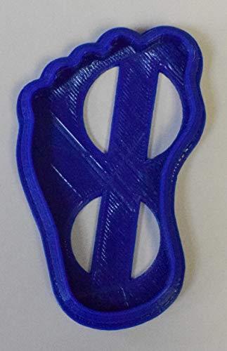 Plätzchen-Ausstechform für Baby, Fuß, Dusche, Party, besondere Anlässe, 3D-Druck, hergestellt in den USA PR76 SMALL einfarbig