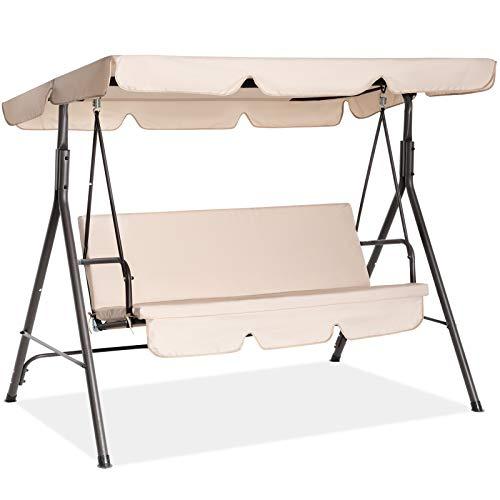Fundouns 2-Person Patio Porch Swing Chair, Patio...