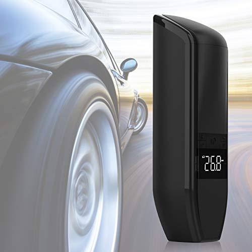 Bomba de neumáticos, pantalla digital LCD de 150 psi, inflador de neumáticos digital práctico portátil duradero, 3 colores opcionales para medir la presión de los neumáticos, inflar(black)