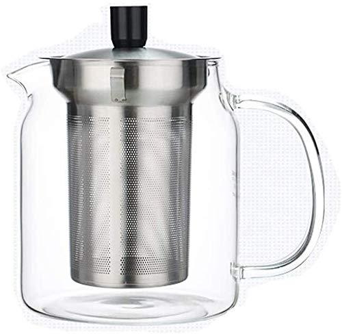 Bouilloire induction Théière à théière transparente Théière à théière avec infuseur Panque de filtre en acier inoxydable en acier inoxydable résistant à la chaleur pour le bureau de la maison en plein
