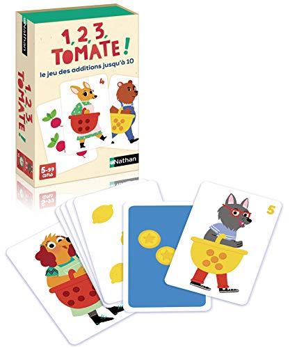 Nathan - Juego de Cartas educativas para Jugar con los números y los cálculos, de 2 a 4 Jugadores