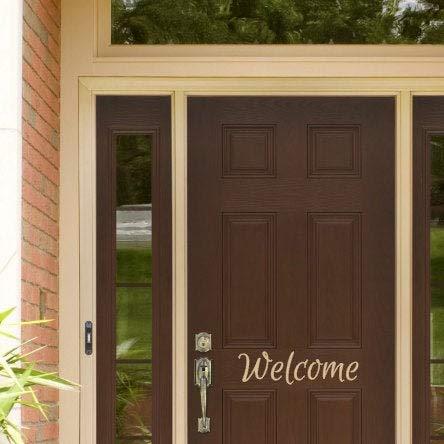 Welkom, Vinyl Decal, Home Decor, Voordeur Decal, Entree, Familie, Gepersonaliseerd, Deur Decal, Naam, Welcome Door Decal, Vinyl Lettering, Gemakkelijk aan te brengen en verwijderbaar