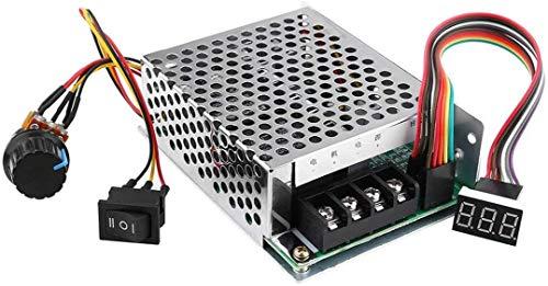 ZHITING 10V-55V 12V 24V 36V 48V 40A Regolatore di velocità del motore continuo DC con interruttore di retromarcia del freno, potenziometro regolabile e display digitale