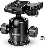 koolehaoda Trípode profesional Cabezal de bola de metal Cabezal de trípode de cámara con placa de liberación rápida Disparo panorámico de 360 ° para cámaras DSLR y monopie.