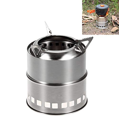Konglz Productos de Camping Mini Estufa de leña de Acero