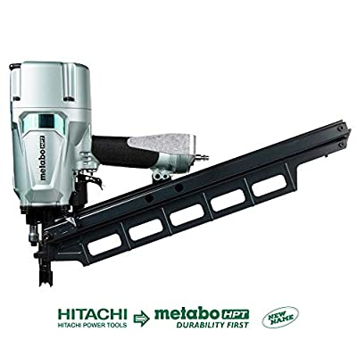 Metabo HPT NR83A5 Pneumatic Framing Nailer, 2-Inch up to 3-1/4-Inch Plastic Collated Full Head Nails, Tool-less Depth Adjustment, 21 Degree Magazine, Selective Actuation Switch, 5-Year Warranty from Metabo HPT