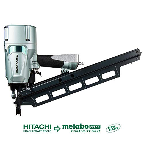 Metabo HPT Pneumatic Framing Nailer   2-Inch up to 3-1/4-Inch Plastic Collated Full Head Nails   Tool-less Depth Adjustment   21 Degree Magazine   Selective Actuation Switch   5-Year Warranty (NR83A5)