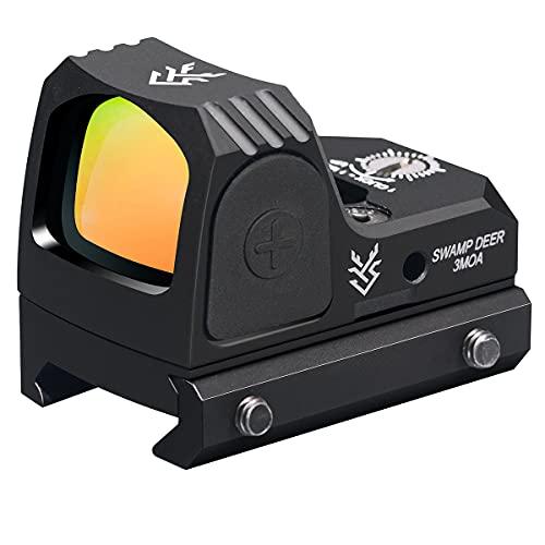 Red Dot Sight, 3 MOA Red Dot Scope, Multi Coated Scope Optic,Adjustable Brightness Reflex Sight, red dot Optic with 2 Picatiinny Rail Mounts