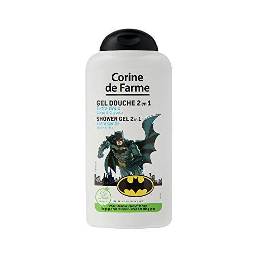 Corine de Farme - Gel Douche Corps et Cheveux 2 EN 1 Batman - Soin Toilette pour Enfant - Formule sans Paraben - 100% Made In France | 250 ml