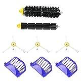 #N/V Juego de 3 cepillos de repuesto para robots de limpieza de esquinas, 3 piezas de filtro limpiador de un cepillo para Roomba 620 630 650 660