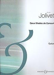 BOOSEY & HAWKES JOLIVET ANDRE - DEUX ETUDES DE CONCERT - GUITAR Partition classique Guitare - luth Guitare
