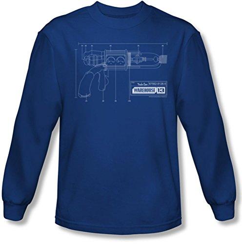 Warehouse 13 - Tesla Gun Tee shirt manches longues Homme Dans royale, XX-Large, Royal