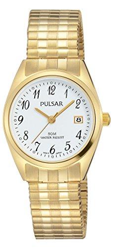 Pulsar Quarz Damen-Uhr Edelstahl mit Metallband PH7444X1