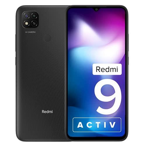 Redmi 9 Activ (Carbon Black, 4GB RAM, 64GB Storage)