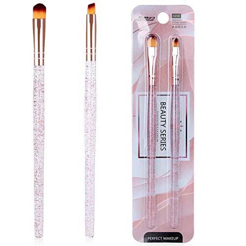 Make-up Lidschatten Pinsel Set, Make-up Tools Lidschatten Eyeliner Augenbrauen Pinsel für Anfänger und Profis, 2 Stück…
