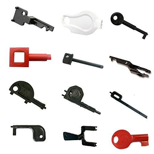 Ingenieurspackung – 12 Testschlüssel für den Call Point – Gent, Fulleon, KAC, Fike, Rafiki, Apollo, C-Tec, STi, Menvier Cooper, Cranford Controls, CEL