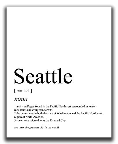 Seattle Wall Decor - 8x10