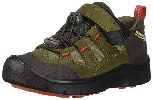 KEEN Hikeport Waterproof Junior Hiking Schuh - SS18, Martini Olive/Pureed Pumpkin, 29 EU