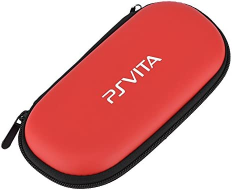 Carrying Case for PS Vita Portable Travel Hard Shockproof Case for Protective Sony PS Vita red product image