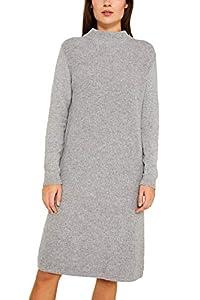 ESPRIT Damen 109Ee1E004 Kleid, Grau (Medium Grey 5 039), Large (Herstellergröße: L)