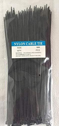 100pcs Popular 10x600 Ranking TOP4 10600mm 8.8mm Width White Nylon66 Network Black