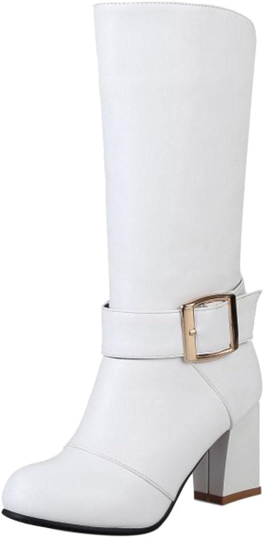 RizaBina Women Fashion Heels Boots Back Zipper