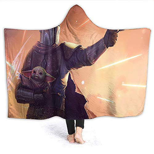Star Wars Durable Hooded Blanket Baby Yo-da The Mandalorian for Adult and Kids Adults Size 80 x 60 Inch