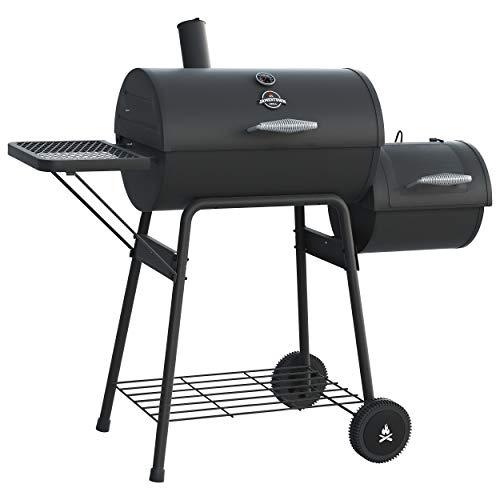 Jamestown ALDON Smoker-Grill mit direkter und indirekter Grillfunktion inkl. Thermometer im Deckel | Hochwertiger Grill für das perfekte Barbecue
