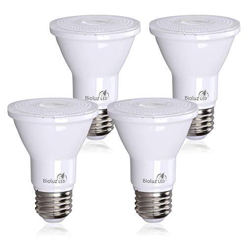 PAR20 LED Bulb 75W Replacement, Bioluz LED Spot Light Bulb, 3000K Soft White, E26, 40 Degree Beam Angle, UL Listed, 4-Pack