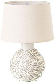 Lámpara bola shabby chic de cerámica beige, de ø 20x29 cm - LOLAhome