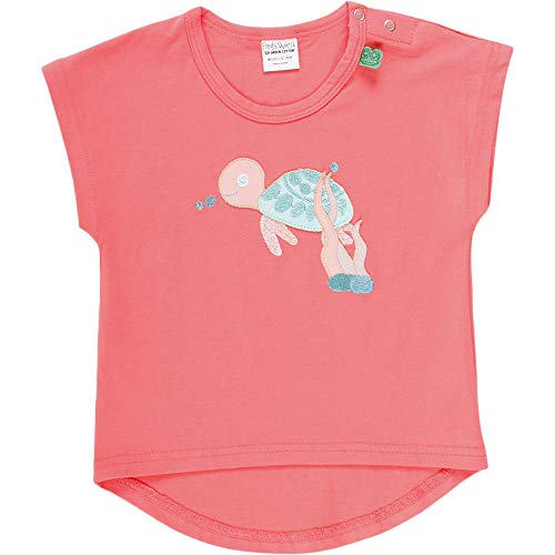Fred'S World By Green Cotton Ocean Turtle S/s T Baby T-Shirt, Rouge (Coral 016164001), 92 Bébé Fille
