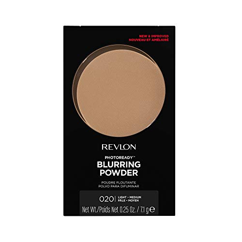 Revlon PhotoReady Pressed Face Powder with Brush, Longwearing Oil Free, Fragrance Free, Noncomedogenic Makeup,0.30 oz