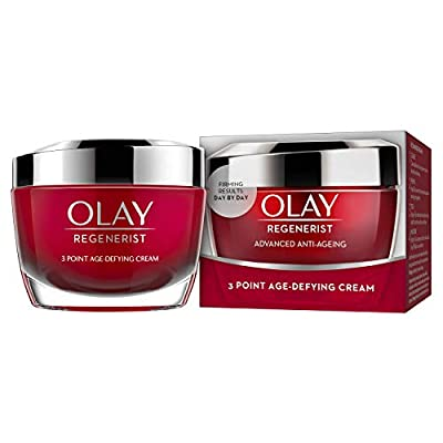 Olay Regenerist 3 Point Firming Anti-Ageing Cream Moisturiser with Hyaluronic Acid, 50 ml, Pack of 1