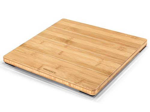 Soehnle 63880 Style Sense Bamboo Magic, digitale houten weegschaal van echt bamboe