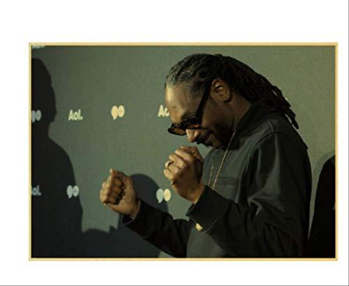 DPFRY Leinwandbild Rapper Snoopy Hund Liebe Nächste Set Retro Papier Poster Wandhauptdekoration Mw35T 40X60 cm Ohne Rahmen