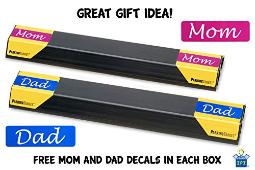 IPI-100: Parking Target - Parking Aid Protects Car and Garage Walls - Easy to Install – Peel and Stick - Only 1 Needed per Vehicle – Mom and Dad and USA Decals Included – Parking Gadget Great Gift Photo #2
