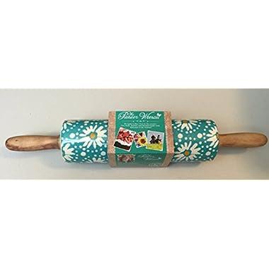 Pioneer Woman Flea Market Stoneware Kitchen Rolling Pin