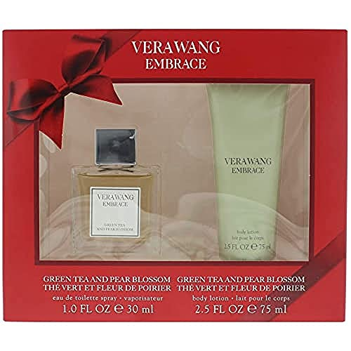 Vera Wang Embrace Eau de Toilette Fragrance for Women Green Tea and Pear Blossom, 30 ml and body lotion 75ml