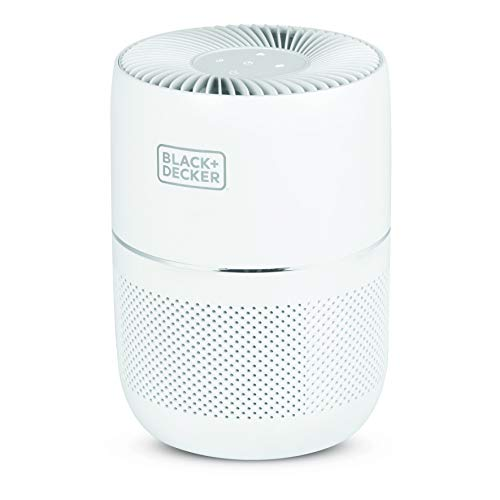 BLACK+DECKER Tabletop Air Purifier - 3-Stage Filtration System - HEPA Air Purifiers for Home