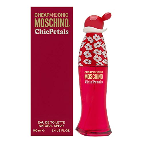 Moschino Cheap and Chic Petals EDT Spray for Women, 3.4 Ounce