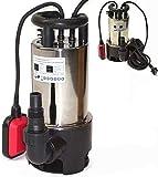 Bomba sumergible de acero inoxidable para el jardín, 1100 W, incluye cable de...