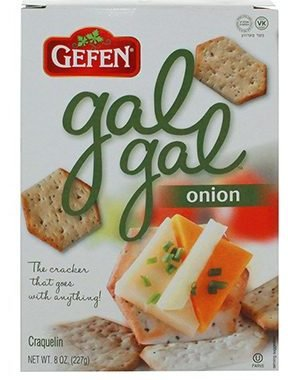 Gefen Gal NEW Onion Crackers Manufacturer direct delivery 8 Oz. Pack 3. Of