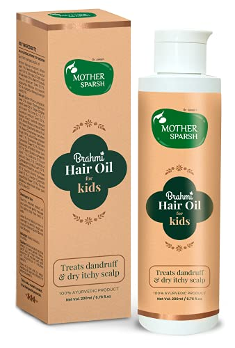 Mother Sparsh Brahmi Anti-Dandruff Hair Oil For Kids To Treat Dandruff & Dry Itchy Scalp-200ml