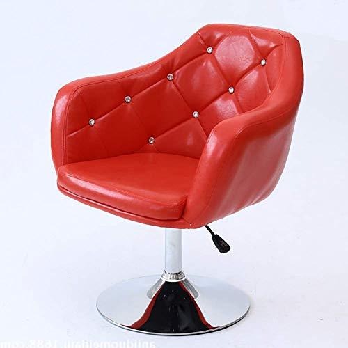 DGHJK Moderner Drehstuhl Aus Samtigem/Glänzendem Lederakzent |Waschtisch Mit Mittlerer Rückenlehne | Höhenverstellbare Barstühle Kantenstuhl Für Mädchenzimmer, Make-Up Schminktisch Bü