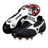 Morelia II Si - Botas de fútbol con tacos de aluminio, empeine de piel Negro Size: 39 1/3 EU