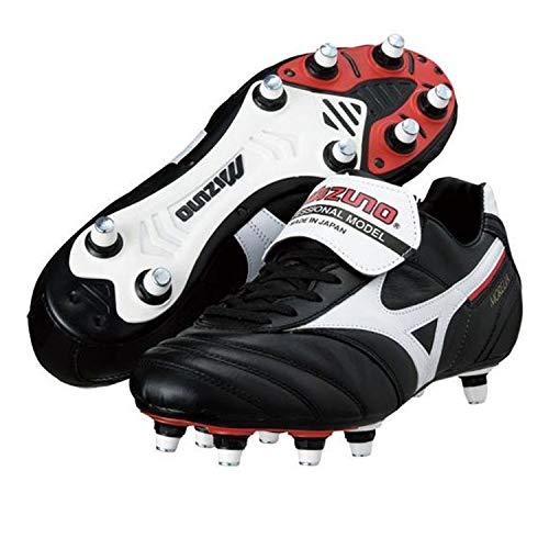 Morelia II Si - Botas de fútbol con tacos de aluminio, empeine de piel Negro Size: 42.5 EU