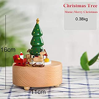VDT Music Box Type Wooden Music Box Creative Gift Gifts for Kids Musical Wheel Boxes Boxs Navidad Decorations for Home