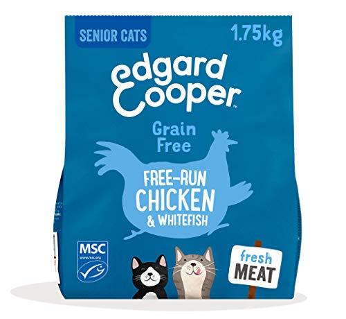Edgard & Cooper Natürliches Trockenfutter für ältere Katzen, 1,75 kg, Hühnchen und Weißfisch, Getreidefrei und MSC-zertifiziert
