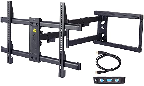 """FORGING MOUNT Long Extension TV Mount Corner Wall Mount TV Bracket Full Motion with 30 inch Long Arm for Corner/Flat Installation fits 37 to 75"""" Flat/Curve TVs, VESA 600x400mm Holds up to 99lbs"""