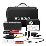 SUAOKI U18 Plus 1200A Booster Batterie + Compresseur Mini 2 en 1 Multifonction...